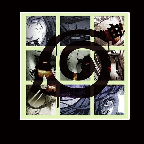 NOR181 Dead Naruto Peeking anime sticker Car Decal Vinyl Window