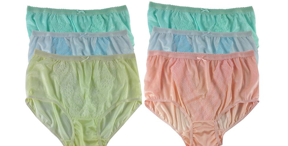 NLSG115 Lots 6 pcs Wholesale New Panties Granny Briefs Nylon Men Women