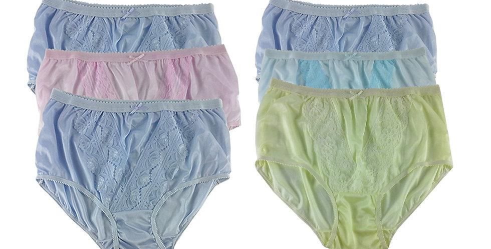 NLSG28 Lots 6 pcs Wholesale New Panties Granny Briefs Nylon Men Women