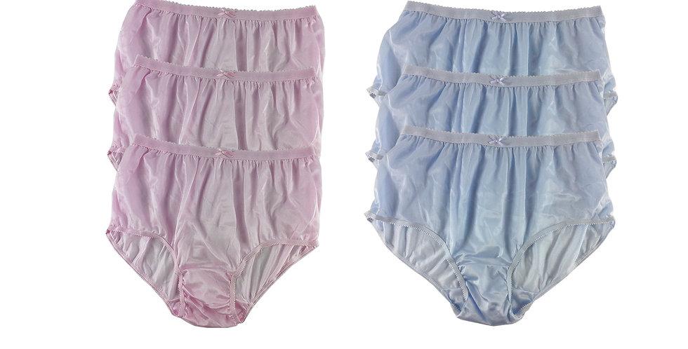 NYSE02 Lots 6 pcs New Panties Wholesale Briefs Silky Nylon Men Women