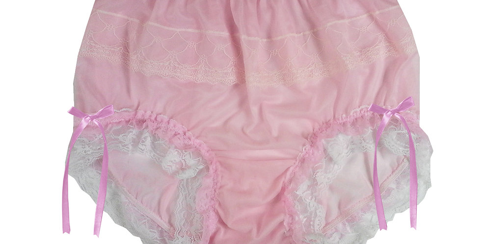 JYH21D10 Pink Handmade Nylon Panties Women Men Lace Knickers Briefs