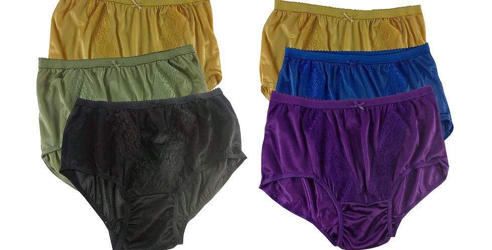 KJSJ44 Lots 6 pcs Wholesale New Panties Granny Briefs Nylon Men Women