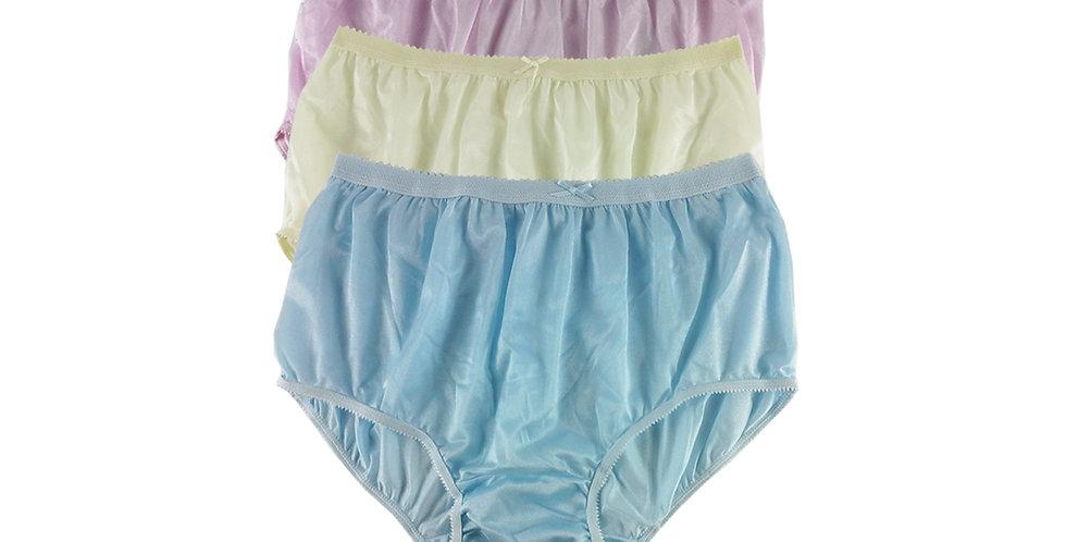 NYTF09 Lots 3 pcs New Panties Wholesale Briefs Silky Nylon Men Women