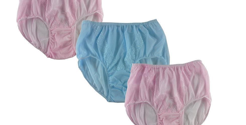 SSTM17 Lots 3 pcs Wholesale New Nylon Panties Lace Women Men Briefs