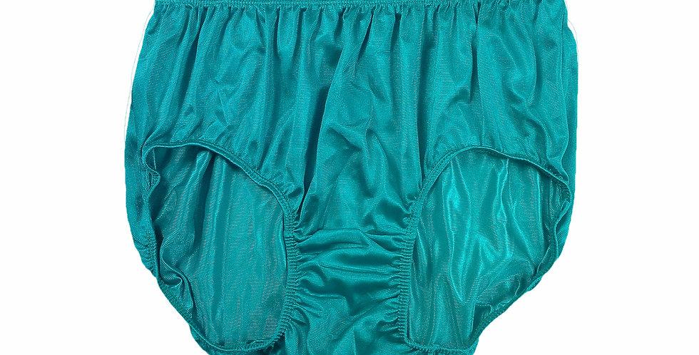 JR04 Light Blue Half Briefs Nylon Panties Women Men Knickers