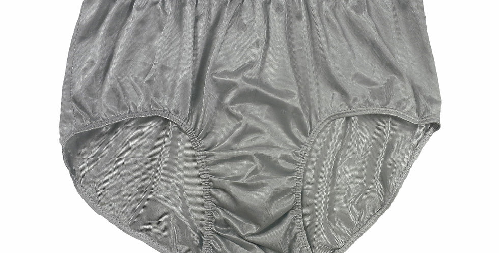 JR09 Gray Grey Half Briefs Nylon Panties Women Men Knickers