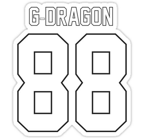 g dragon 88 SSTK055 K-Pop Music Brand Car Window Decal Sticker