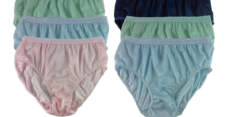 CKSL30 Lots 6 pcs Wholesale New Nylon Panties Women Undies Briefs