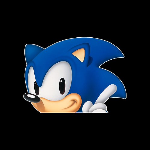 Peeking stickers Anime Stickers for Car Decals PKT255 Sonic The Hedgehog