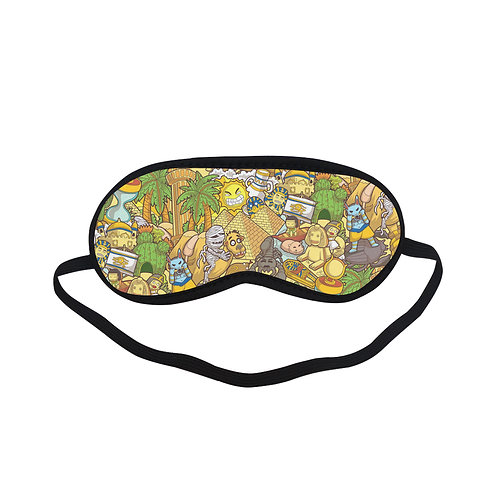 PTEM180 Egypt cartoon Graphic design Eye Printed Sleeping Mask