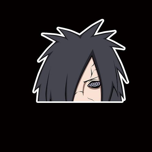 NOR27 madara uchiha Naruto Peeking anime sticker Car Decal Vinyl Window