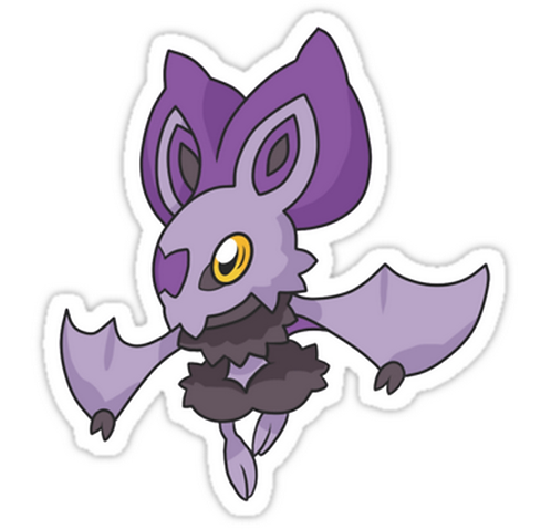 Lavender Bat SPKMR106 Cartoon Anime Car Window Decal Sticker