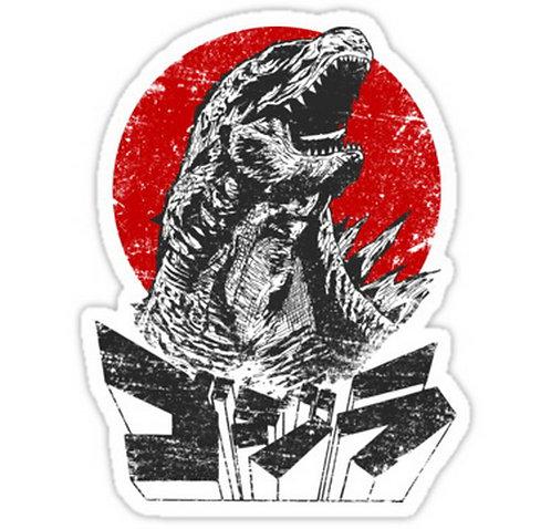SRBB0583 The King Will Rise - Godzilla anime sticker