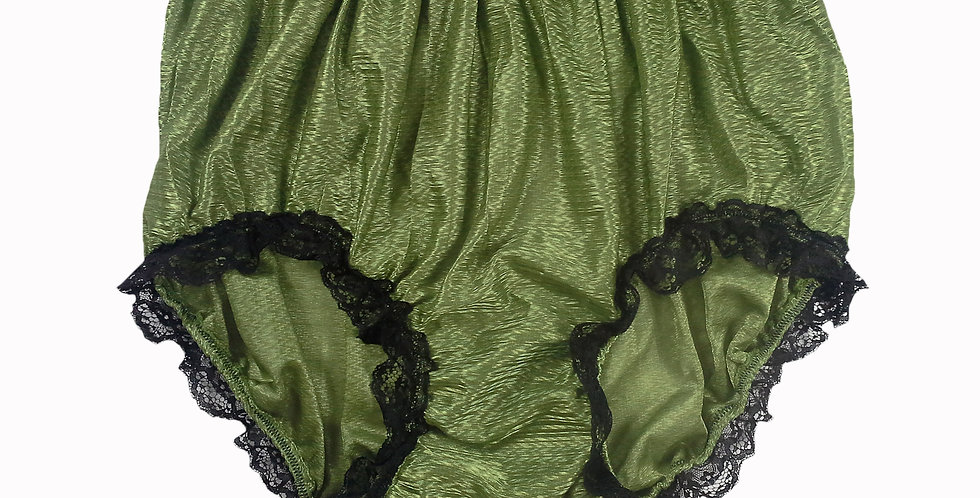 SFH08D04 Olive Green Shiny Nylon New Panties Women Men Handade Briefs