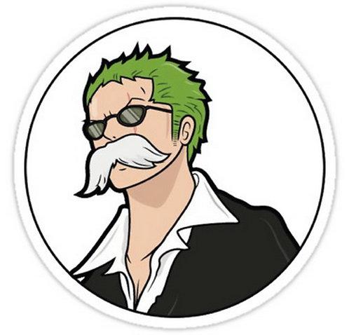 SRBB0544 Zoro - One Piece anime sticker