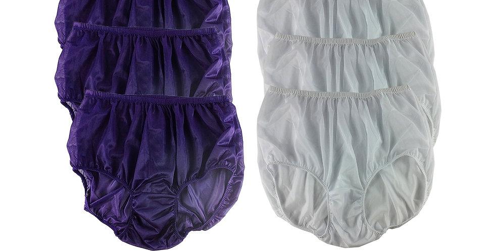NSD42Lots 6 pcs Wholesale Women New Panties Granny Briefs Nylon Lingerie