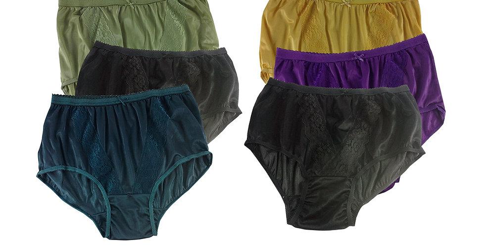 KJSJ16 Lots 6 pcs Wholesale New Panties Granny Briefs Nylon Men Women