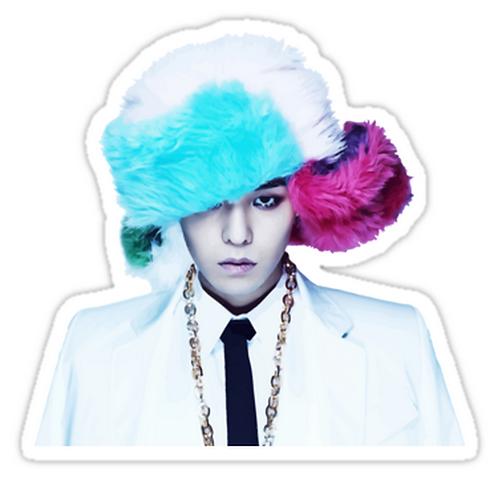 gdragon with swag hat SSTK046 K-Pop Music Brand Car Window Decal Sticker