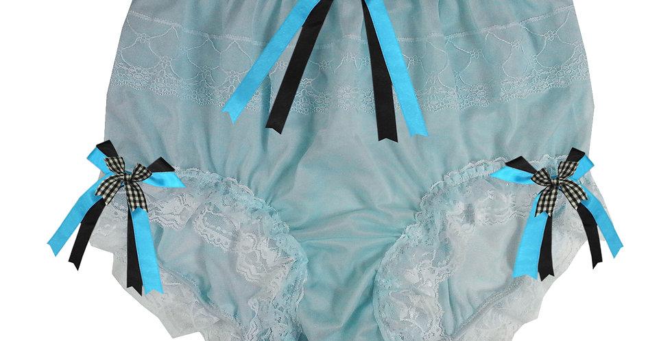 JYH22D32 Blue Handmade Nylon Panties Women Men Lace Knickers Briefs