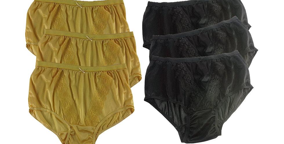 KJSJ05 Lots 6 pcs Wholesale New Panties Granny Briefs Nylon Men Women