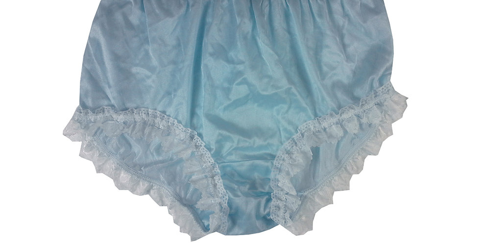 NYH24D02 Blue Handmade New Panties Briefs Lace Sheer Nylon Men Women