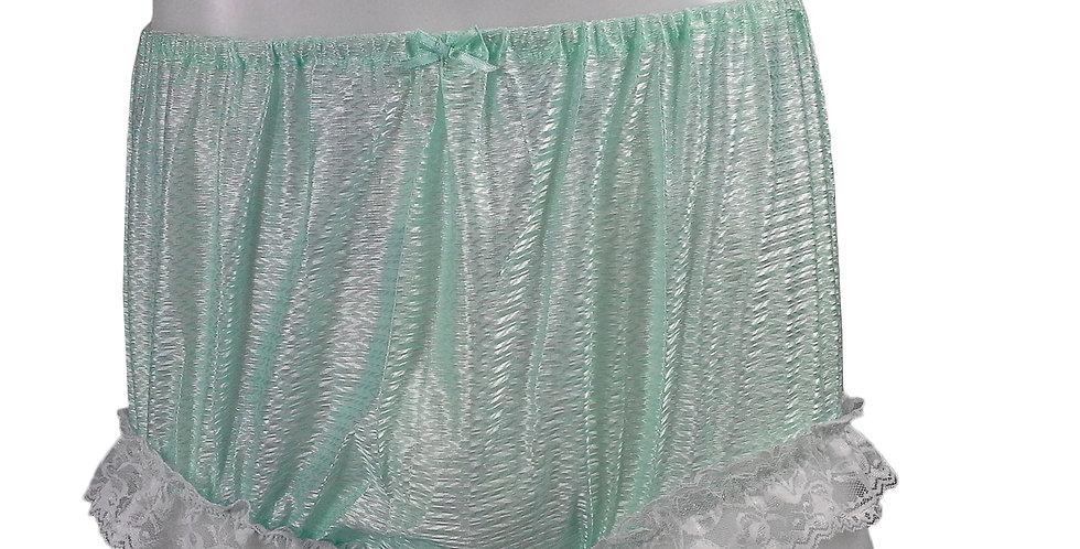 SFH01D04 Green Shiny Nylon New Panties Women Men Handade Briefs
