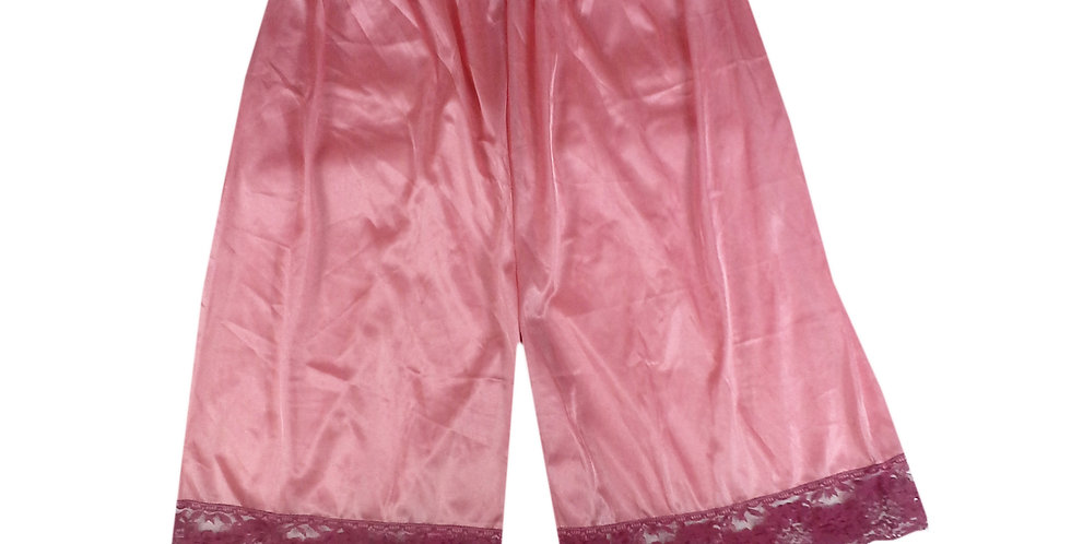 PTP13 deep pink Silky Nylon Pettipants Women Men Slips Lace Lingerie