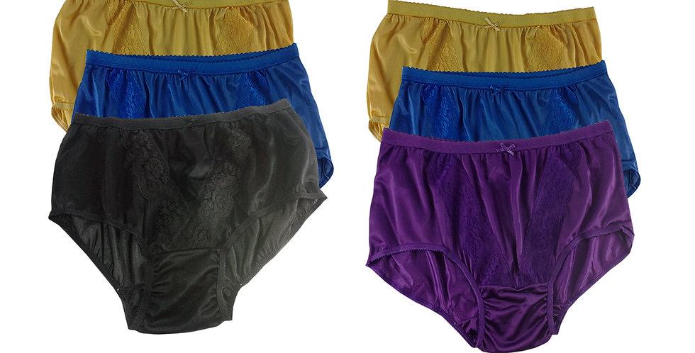 KJSJ56 Lots 6 pcs Wholesale New Panties Granny Briefs Nylon Men Women