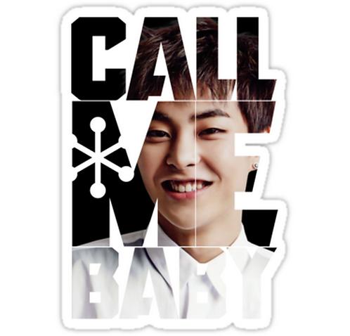 EXO Xiumin 'Call Me Baby' SSTK082 K-Pop Music Brand Car Window Decal Sticker