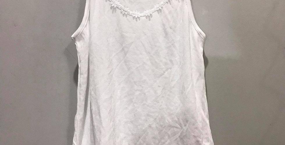 New White Cotton Camisole Tank Top Floral Blouse Lace Women Men Lingerie CCS02