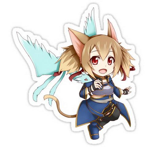 SRBB0579 Chibi Silica ALfheim Online  anime sticker
