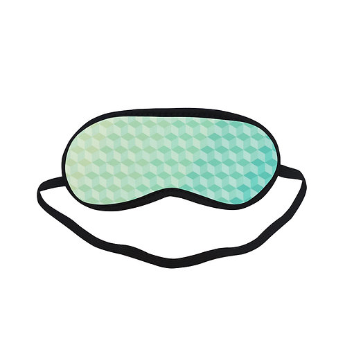 PTEM020 Green Geometric Abstract Pattern  Eye Printed Sleeping Mask