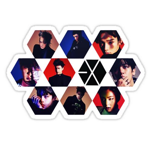 EXO SSTK061 K-Pop Music Brand Car Window Decal Sticker