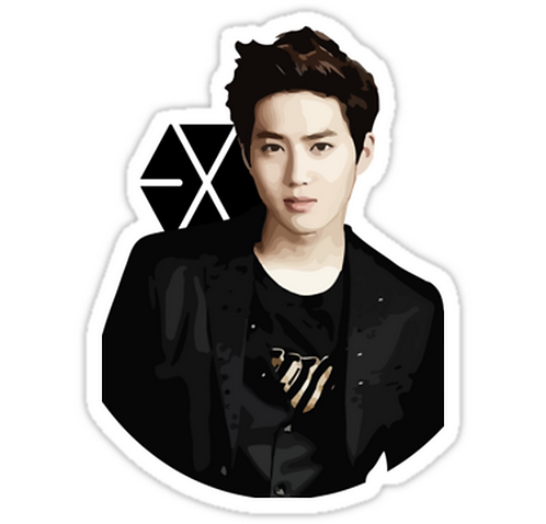 EXO - Suho SSTK071 K-Pop Music Brand Car Window Decal Sticker