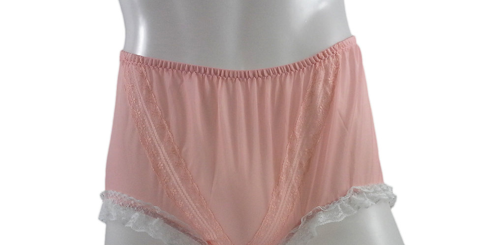SSH02D02 Orange Handmade Nylon Panties Lace Women Granny Men Briefs
