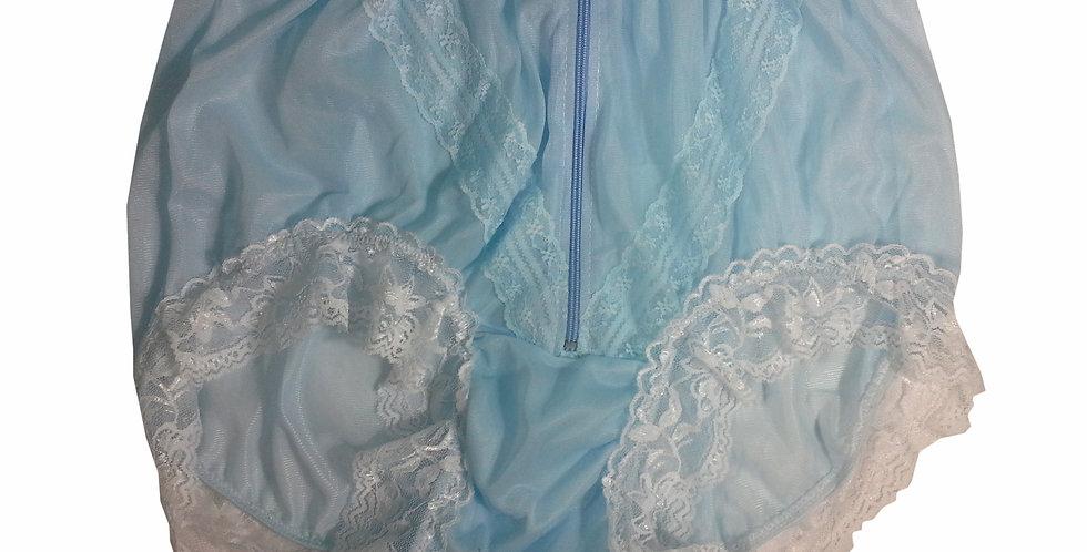 SSH09D04 Blue Handmade Nylon Panties Lace Women Granny Men Briefs