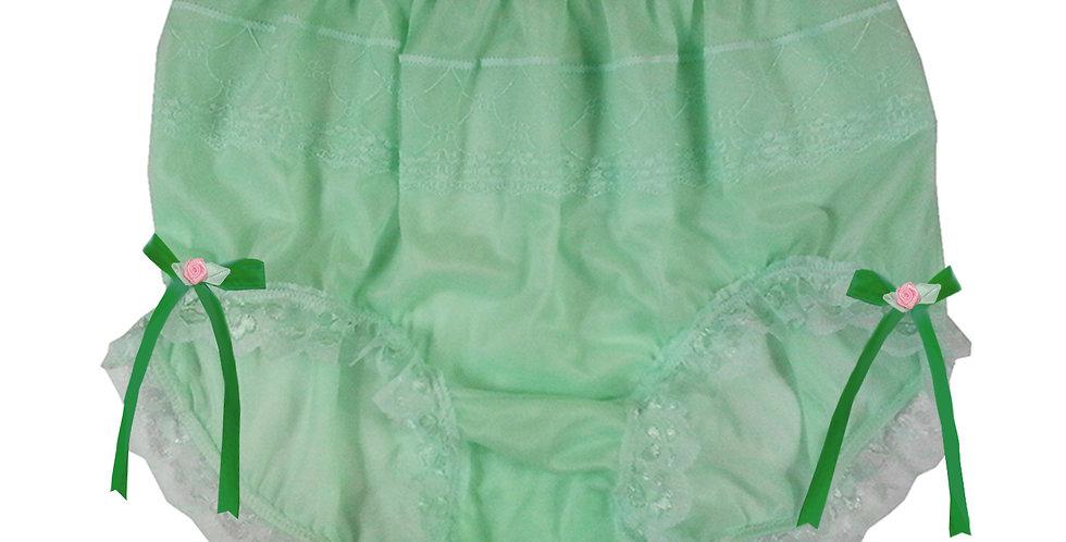 JYH17D09 Fair Green Handmade Nylon Panties Women Men Lace Knickers Briefs