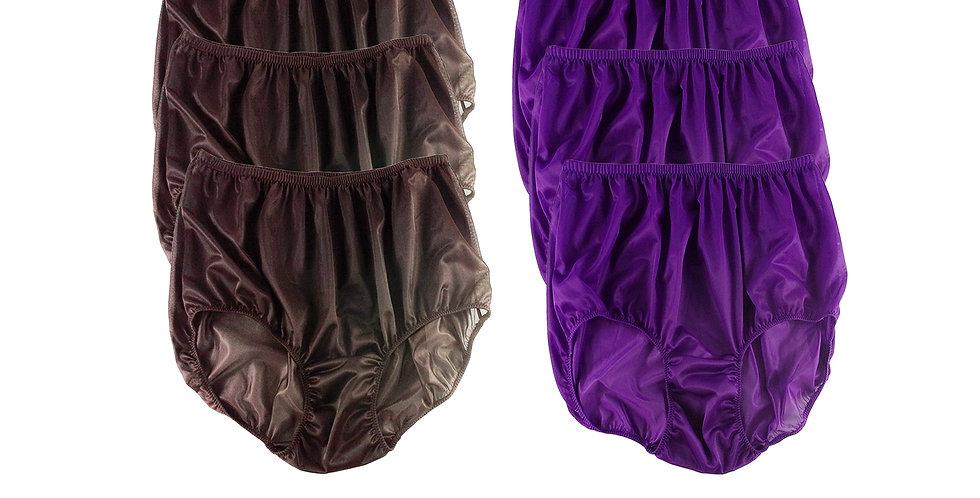 NSD20Lots 6 pcs Wholesale Women New Panties Granny Briefs Nylon Lingerie