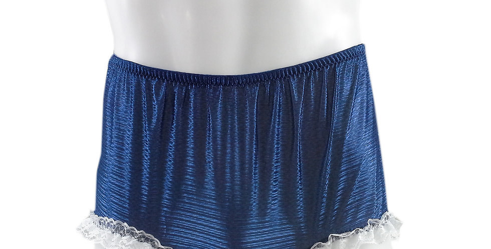 SFH02D06 Navy Blue Shiny Nylon New Panties Women Men Handade Briefs