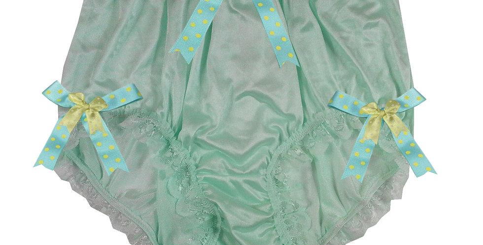 NQH11D05 green Handmade Panties Lace Women Men Briefs Nylon Knickers