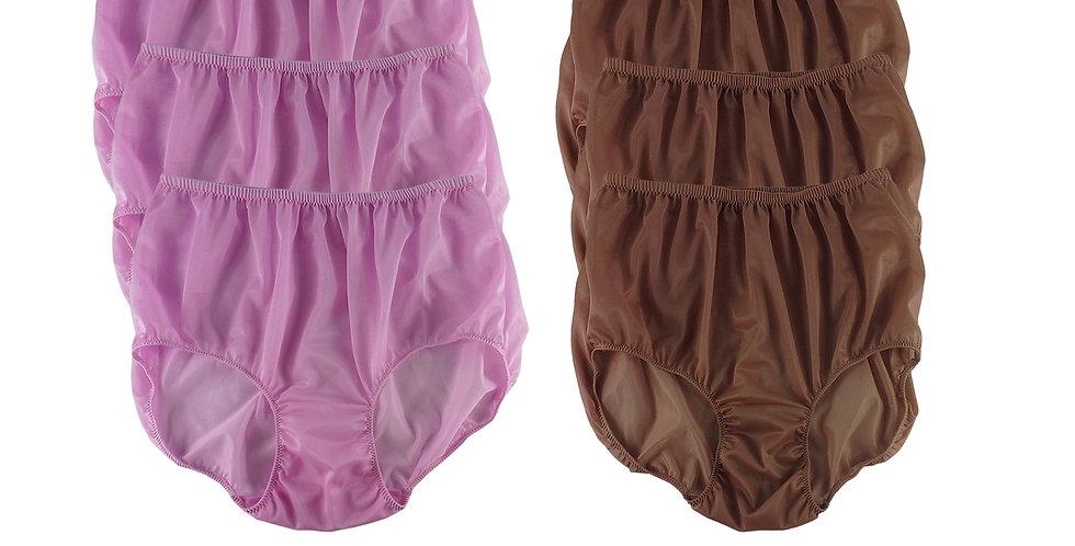 NSD48Lots 6 pcs Wholesale Women New Panties Granny Briefs Nylon Lingerie