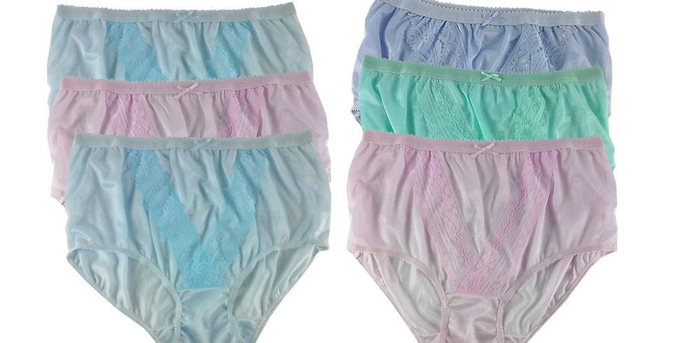 NLSG83 Lots 6 pcs Wholesale New Panties Granny Briefs Nylon Men Women