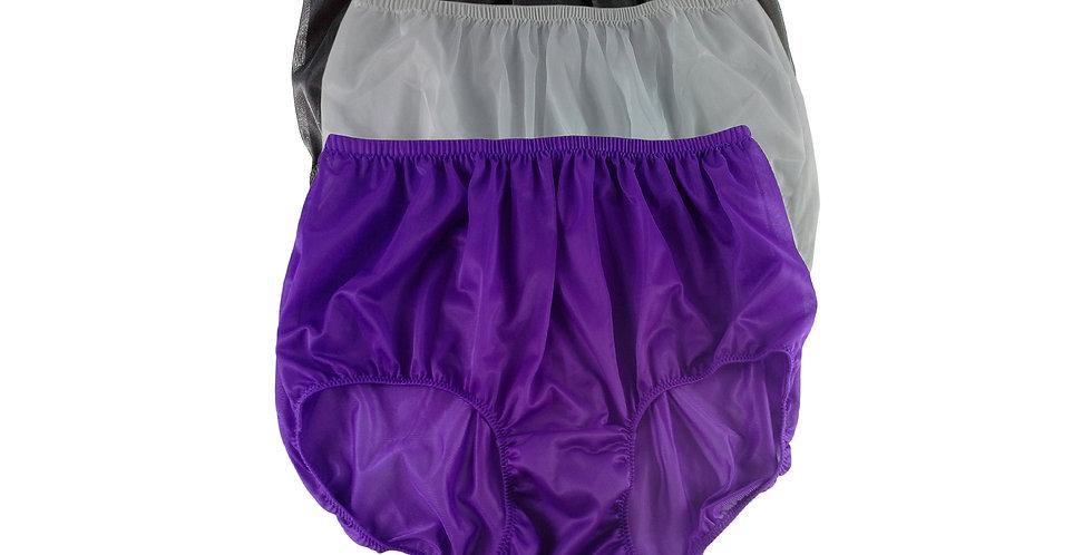 A93 Lots 3 pcs Wholesale Women New Panties Granny Briefs Nylon Knickers