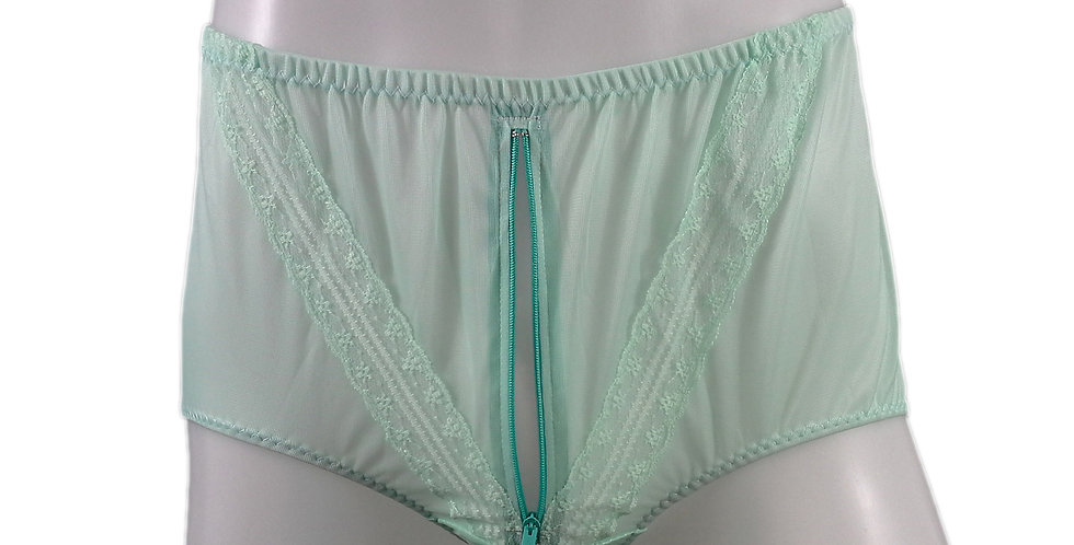 SSH03P03 green Handmade Nylon Panties Lace Women Granny Men Briefs