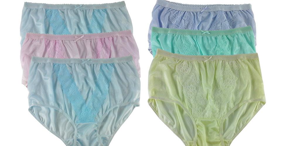 NLSG81 Lots 6 pcs Wholesale New Panties Granny Briefs Nylon Men Women