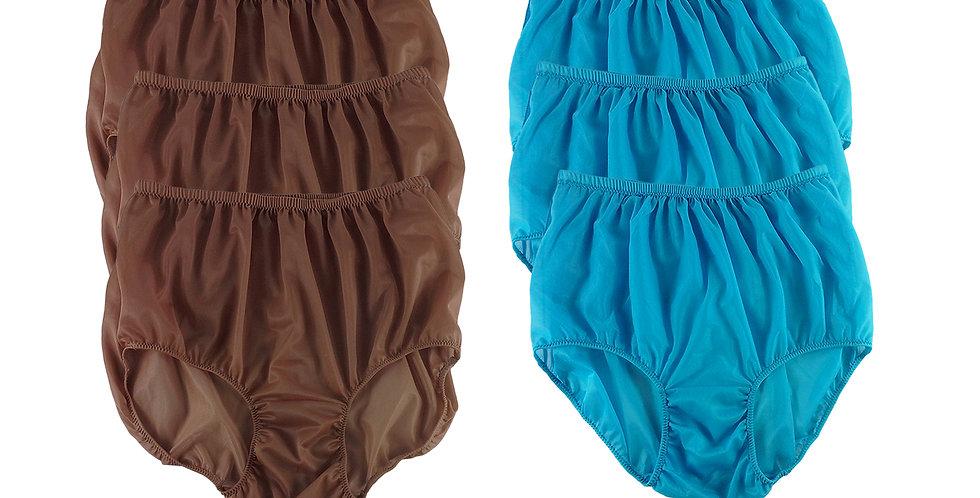 NSD89Lots 6 pcs Wholesale Women New Panties Granny Briefs Nylon Lingerie