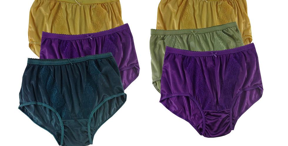 KJSJ35 Lots 6 pcs Wholesale New Panties Granny Briefs Nylon Men Women