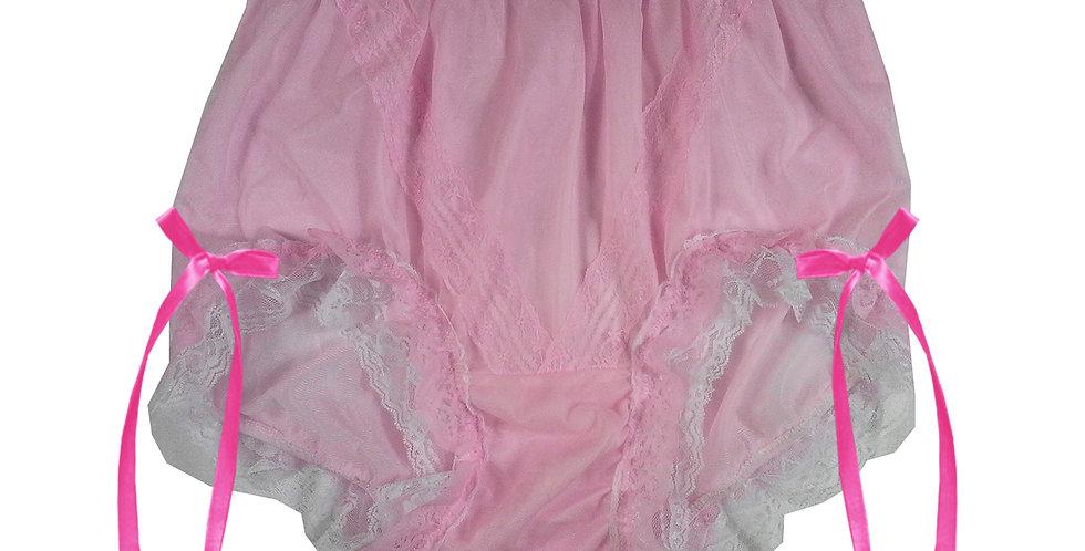 SSH21D14 Pink Handmade Nylon Panties Lace Women Granny Men Briefs