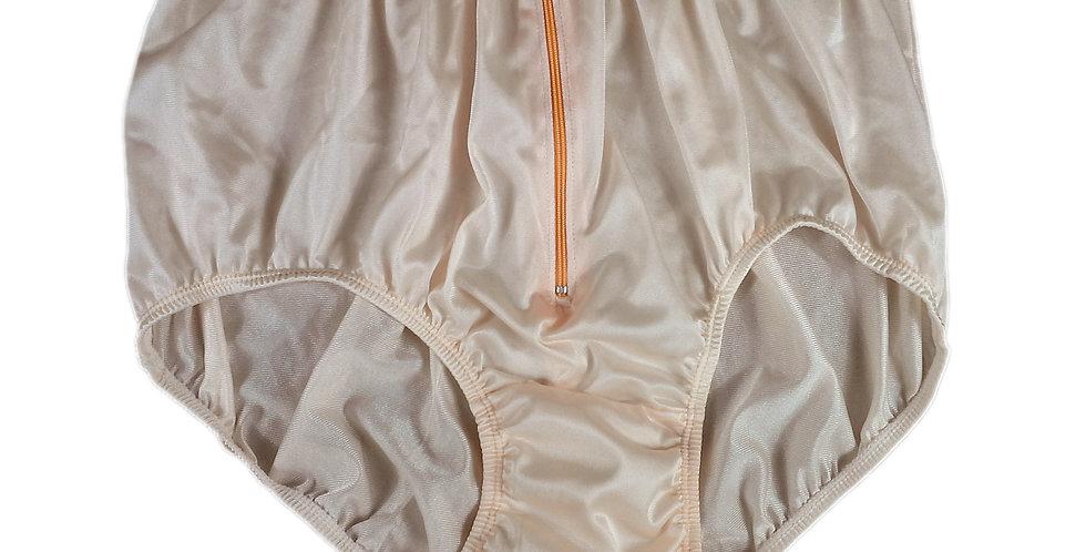 NQH03D04 Orange Panties Granny Briefs Nylon Handmade Lace Men Woman