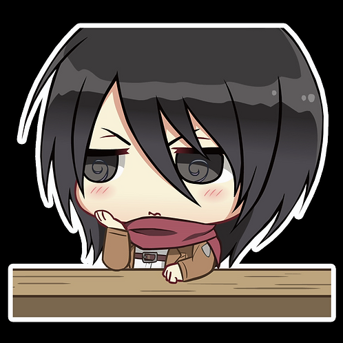 Anime Peeking Sticker Car Window Decal PKN54  Mikasa Ackerman Attack on Titan